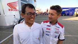 Lucio Cecchinello and 'Nobby' Ueda have a strong relationship off the track, despite being fierce racing rivals