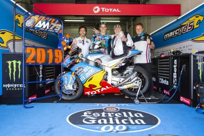 Alex Marquez remains at EG 0,0 Marc VDS Moto2™ in 2019
