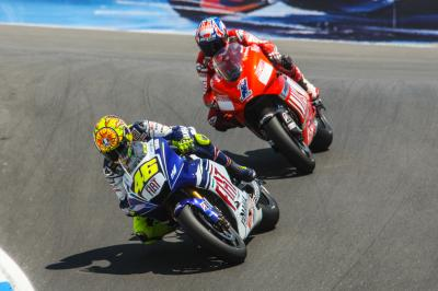 Rossi and Stoner at the corkscrew: 10 years on