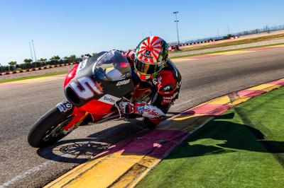 Zarco's training at Aragon with the BeOn 450GP