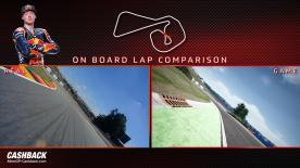 Watch an exciting side-by-side comparison of on-track vs the in-game action of MotoGP™18!
