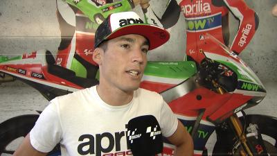 "Aleix Espargaró: ""Estoy contento, vuelvo a pilotar"""