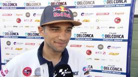 Il pilota spagnolo cade in FP1 alla curva 10, è rottura del radio della mano sinistra. Prova il rientro per il Red Bull Ring