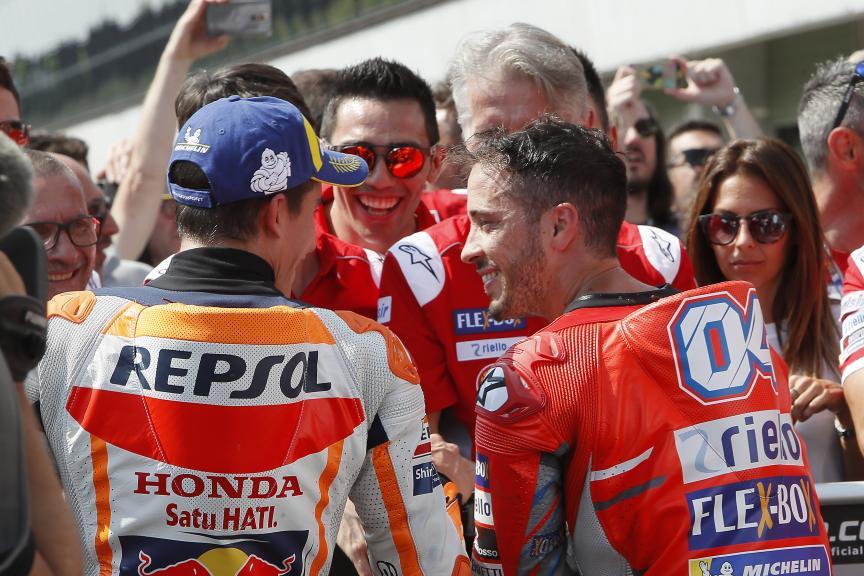 Marc Marquez, Repsol Honda Team, Andrea Dovizioso, Ducati Team, Monster Energy Grand Prix České republiky
