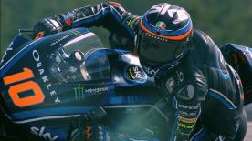 Il numero 10 domina le qualifiche a Brno. È la terza prima fila consecutiva. Marquez secondo e Pasini Terzo. Pecco apre la seconda fila