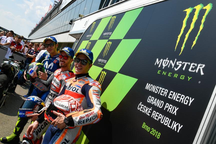 Andrea Dovizioso, Valentino Rossi, Marc Marquez, Monster Energy Grand Prix České republiky