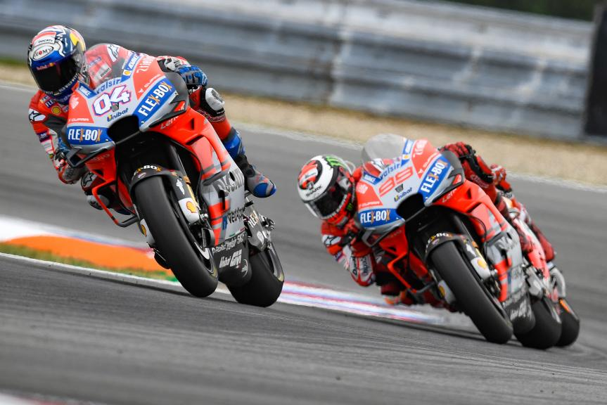 Andrea Dovizioso, Jorge Lorenzo, Ducati Team, Monster Energy Grand Prix České republiky