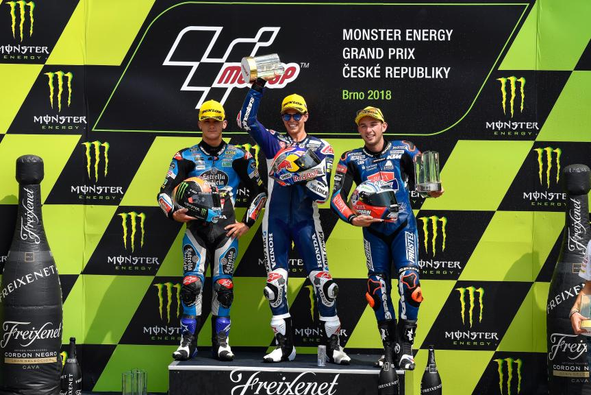 Fabio Di Giannantonio, Aron Canet, Jakub Kornfeil, Monster Energy Grand Prix České republiky