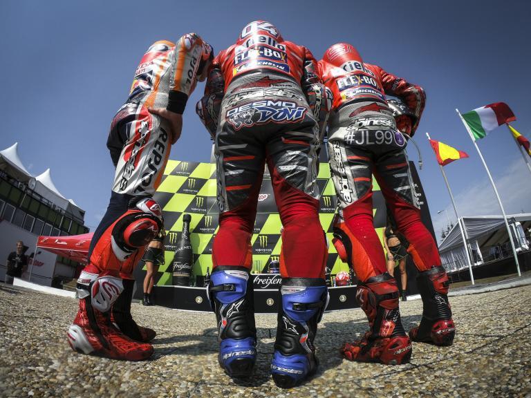 Marc Marquez, Jorge Lorenzo, Andrea Dovizioso, Monster Energy Grand Prix České republiky