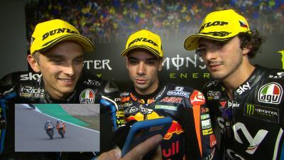 Oliveira y Marini comentan su batalla de final de carrera