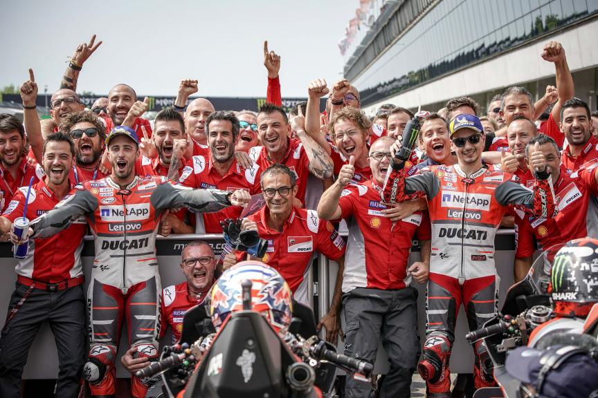 Andrea Dovizioso, Jorge Lorenzo, Ducati Team, Monster Energy Grand Prix České republiky