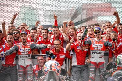 After the Flag: Dovi leads the double Ducati podium at Brno