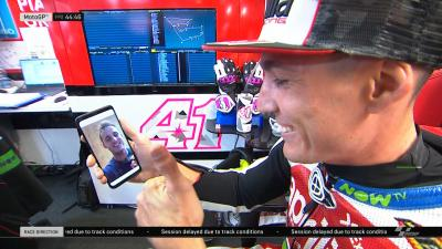 Hey brother!! Nice to catch up w @polespargaro via facetime