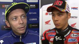 Hear from the MotoGP™ grid and find out how the riders feel after day 1 at the Red Bull Ring