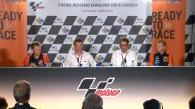At a special press conference, KTM's CEO and Head of Motor Sport joined Aki Ajo and Mike Leitner to announce their full MotoGP? structure