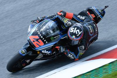 Odendaal leads wet FP2, Bagnaia top overall