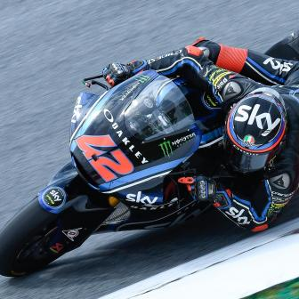 Odendaal führt nasses FP2 an, Bagnaia Tagesschnellster