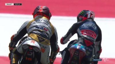 Respect! @Marco12_B knows how impressive that was from @88jorgemartin!  #AustrianGP
