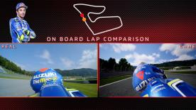 Watch a side-by-side comparison between Andrea Iannone in real life and on MotoGP™18 around the Red Bull Ring