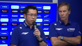 The Iwata factory apologise to Rossi and Viñales for the poor results in Austria and are working hard to improve the M1 as soon as possible