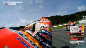 Relive the Marquez rider's pole-winning lap at the Red Bull Ring