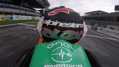 Alex Hofmann tests out the Energica Ego Corsa