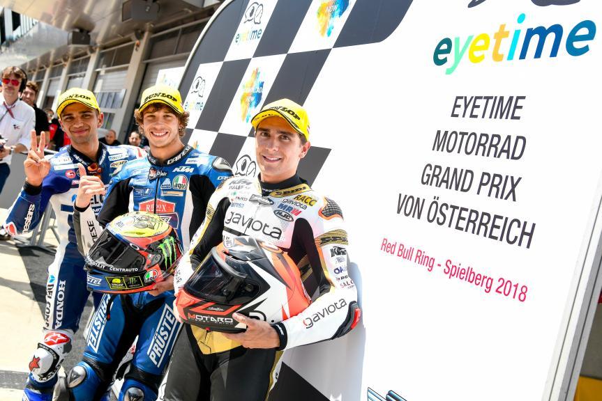 Marco Bezzecchi, Jorge Martin, Albert Arenas, eyetime Motorrad Grand Prix von Österreich