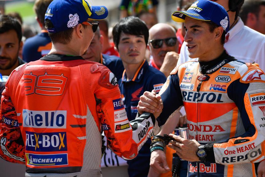 Jorge Lorenzo, Marc Marquez, eyetime Motorrad Grand Prix von Österreich