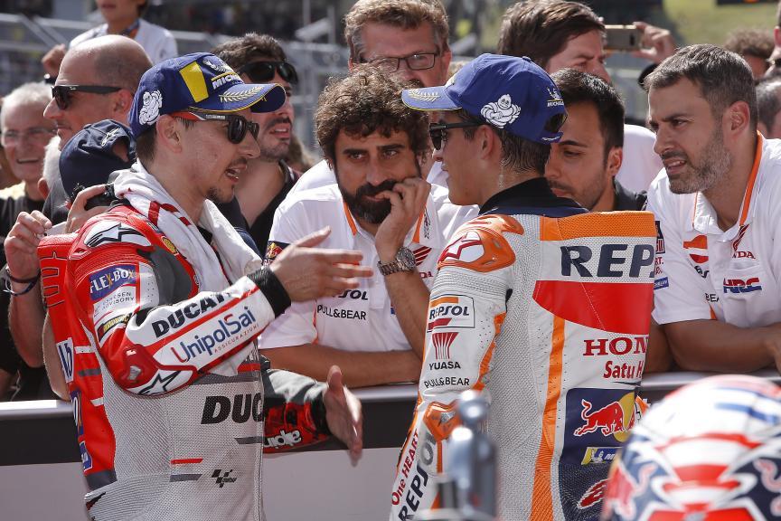 Jorge Lorenzo, Ducati Team, Marc Marquez, Repsol Honda Team, Pramac Motorrad Grand Prix Deutschland