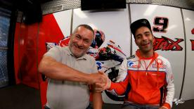 Join Danilo Petrucci and his father, an ex-MotoGP™ mechanic, at the Austrian GP filmed on the iconic action cameras