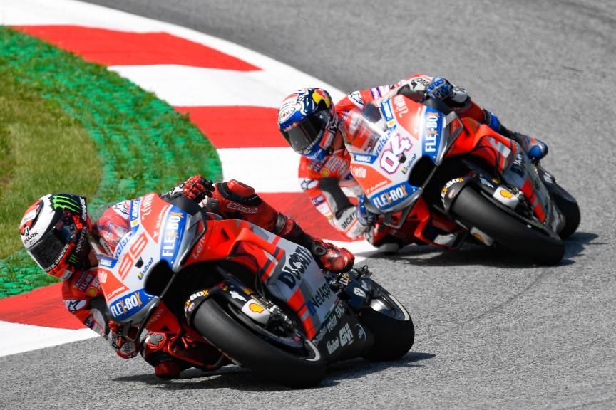 Jorge Lorenzo, Andrea Dovizioso, eyetime Motorrad Grand Prix von Österreich