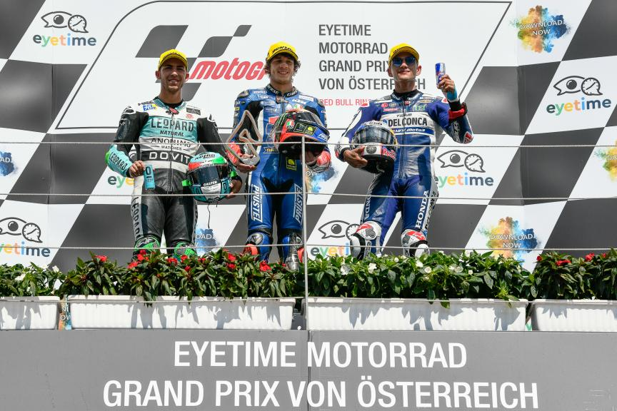 Marco Bezzecchi, Enea Bastianini, Jorge Martin, eyetime Motorrad Grand Prix von Österreich