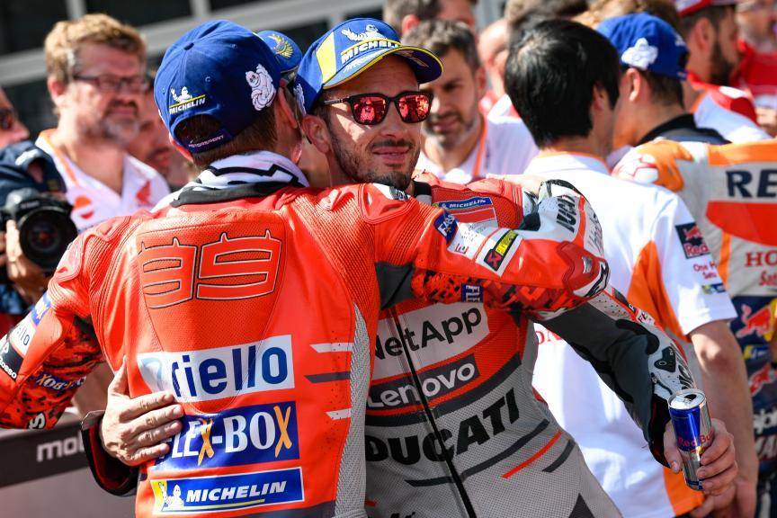 Andrea Dovizioso, Jorge Lorenzo, Ducati Team, eyetime Motorrad Grand Prix von Österreich