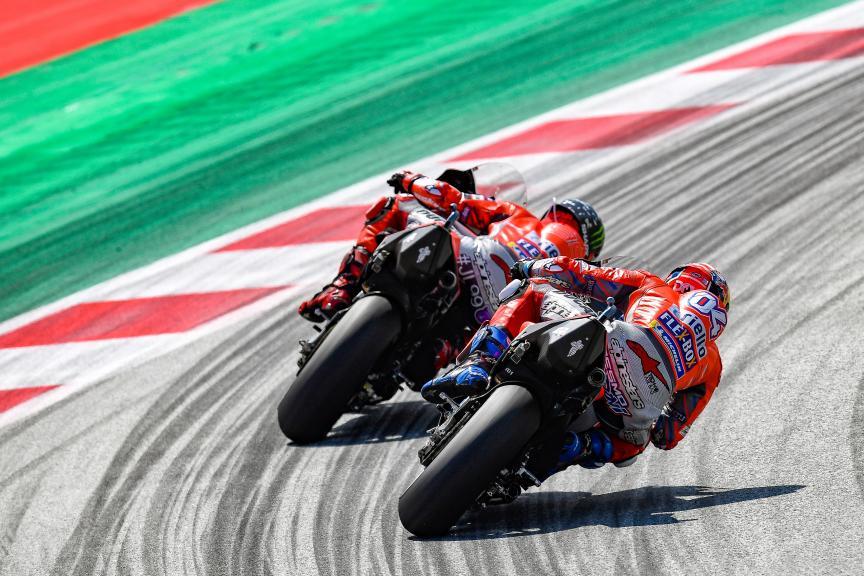 Jorge Lorenzo, Andrea Dovizioso, Ducati Team, eyetime Motorrad Grand Prix von Österreich