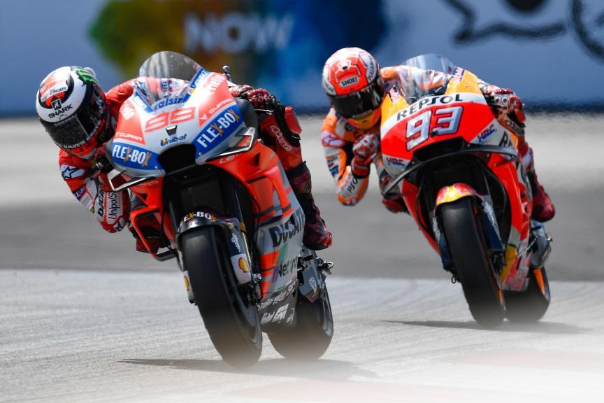 Marc Marquez, Jorge Lorenzo, eyetime Motorrad Grand Prix von Österreich