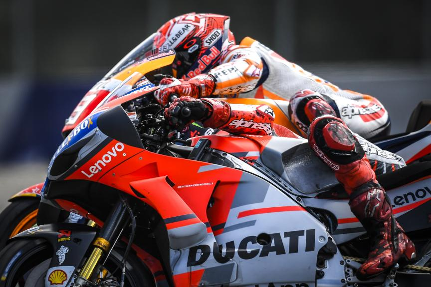 Marc Marquez, Repsol Honda Team, Jorge Lorenzo, Ducati Team, eyetime Motorrad Grand Prix von Österreich