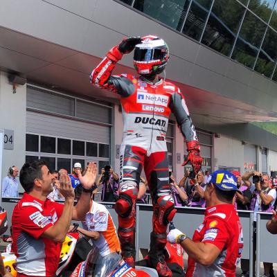 What a wiiiiiin!!!! @lorenzo99 puts #DucatiTeam on TOP of #AustrianGP