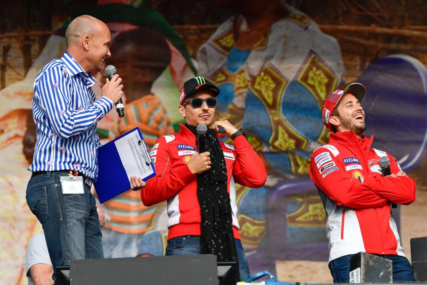 Andrea Dovizioso, Jorge Lorenzo, Ducati Team, Day Of Champions, GoPro British Grand Prix
