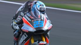 Day 1 at Silverstone and Alex Marquez was fastest in FP2 but the German Marcel Schrotter was fastest overall. Sam Lowes is inside the top 3