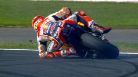 The Championship leader almost saves another crash, this time at Turn 16 in FP1 at Silverstone!