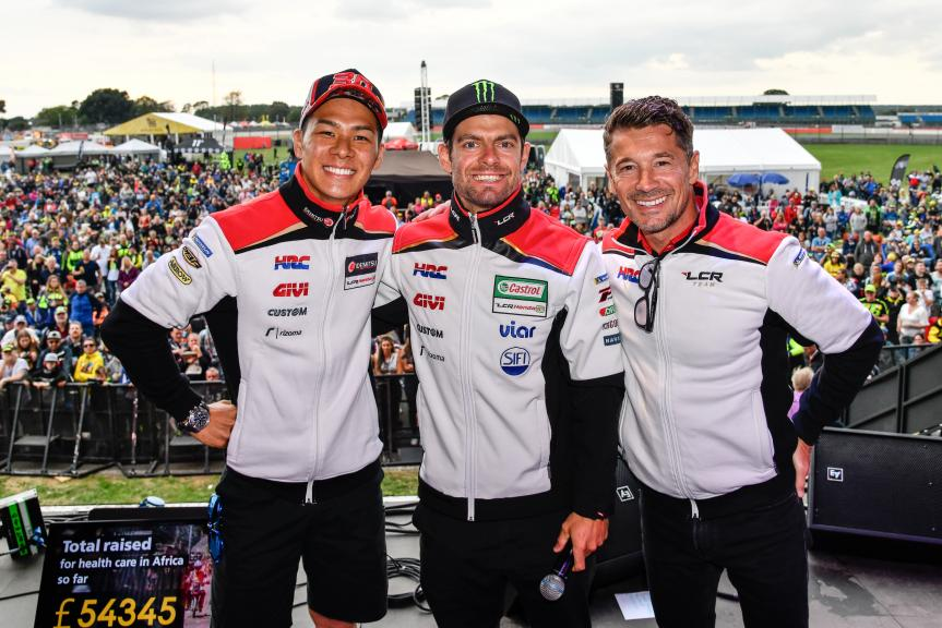 Cal Crutchlow, Takaaki Nakagami, LCR Honda Idemitsu, Day Of Champions, GoPro British Grand Prix