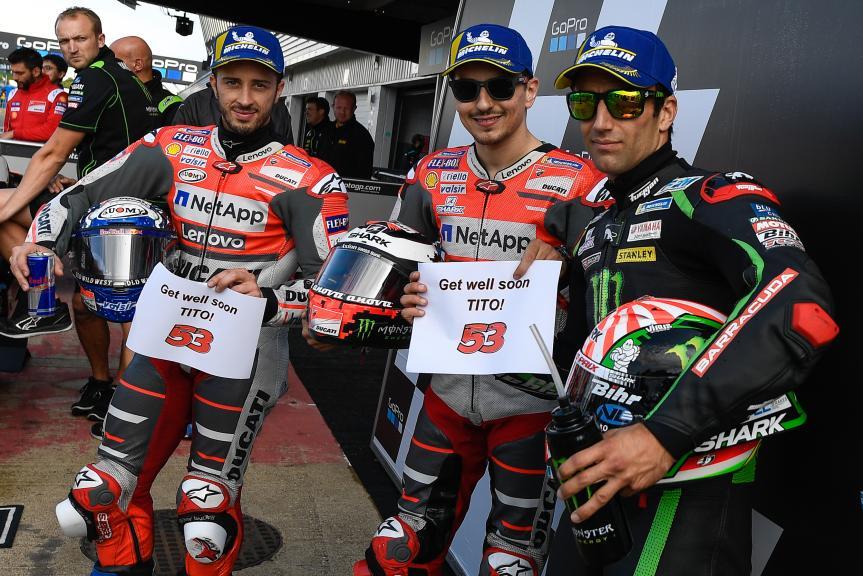 Jorge Lorenzo, Andrea Dovizioso, Johann Zarco, GoPro British Grand Prix