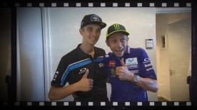 Three Moto2™ podiums in a row for the Italian rider, who talks about joining the Sky VR46 Team and life as Valentino Rossi's half-brother