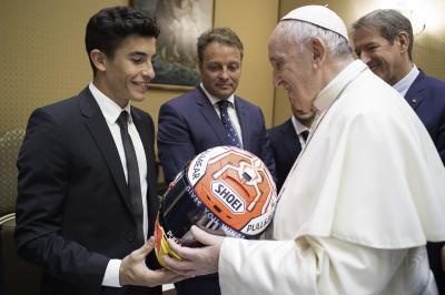 MotoGP™ riders visit Pope Francis at The Vatican