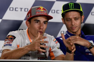 Pressekonferenz: Spannungen zwischen Marquez und Rossi