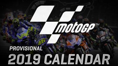 Wie sieht der vorläufige MotoGP™ Kalender für 2019 aus?