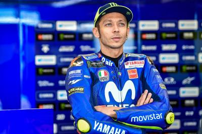 Rossi and Viñales talk about Folger as a Yamaha test rider