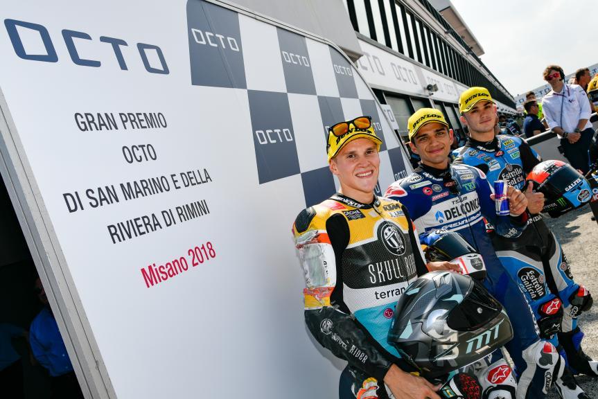 Jorge Martin, Gabriel Rodrigo, Aron Canet, Gran Premio Octo di San Marino e della Riviera di Rimini
