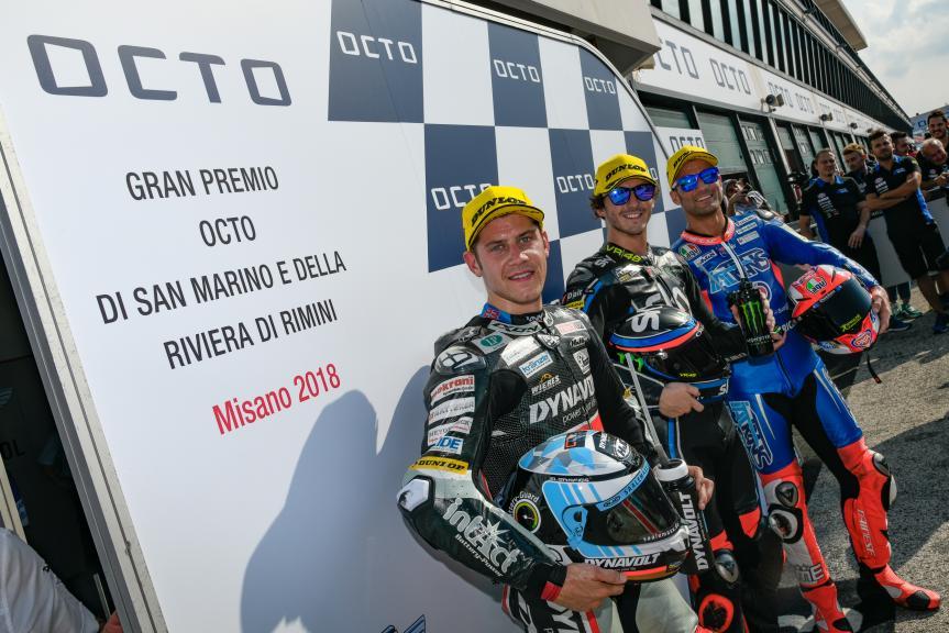 Francesco Bagnaia, Marcel Schrotter, Mattia Pasini, Gran Premio Octo di San Marino e della Riviera di Rimini