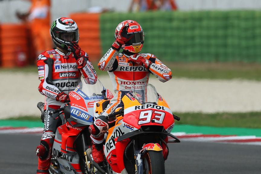 Marc Marquez, Repsol Honda Team, Jorge Lorenzo, Ducati Team, Gran Premio Octo di San Marino e della Riviera di Rimini